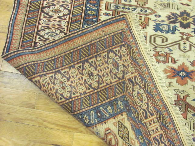 24809 antique caucasian kuba rug 4,5x5,11-3