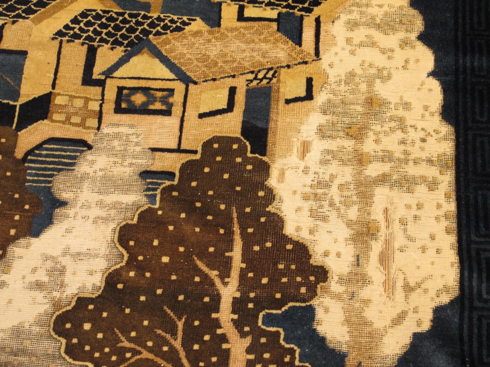23192 antique chinese peking rug 9 x 11,8 (3)