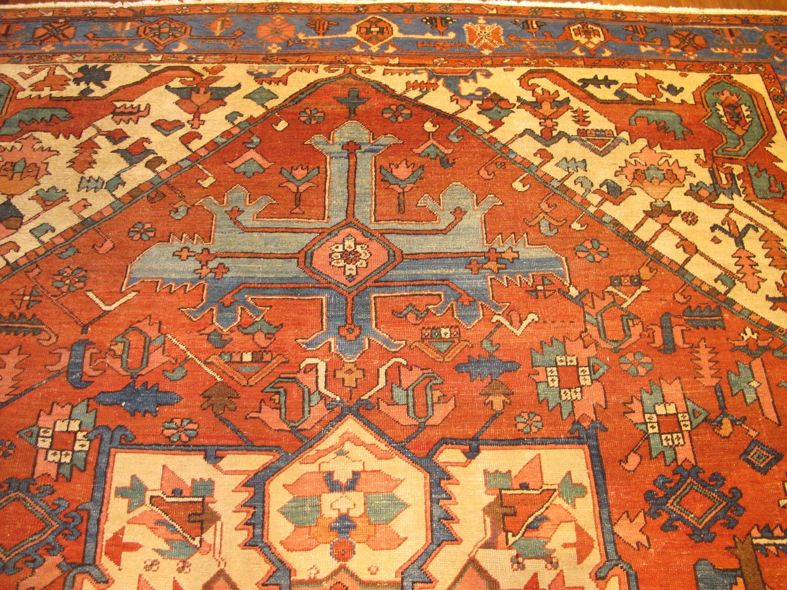 23196 antique persian serapi rug 9,10 x 12,3 (4)