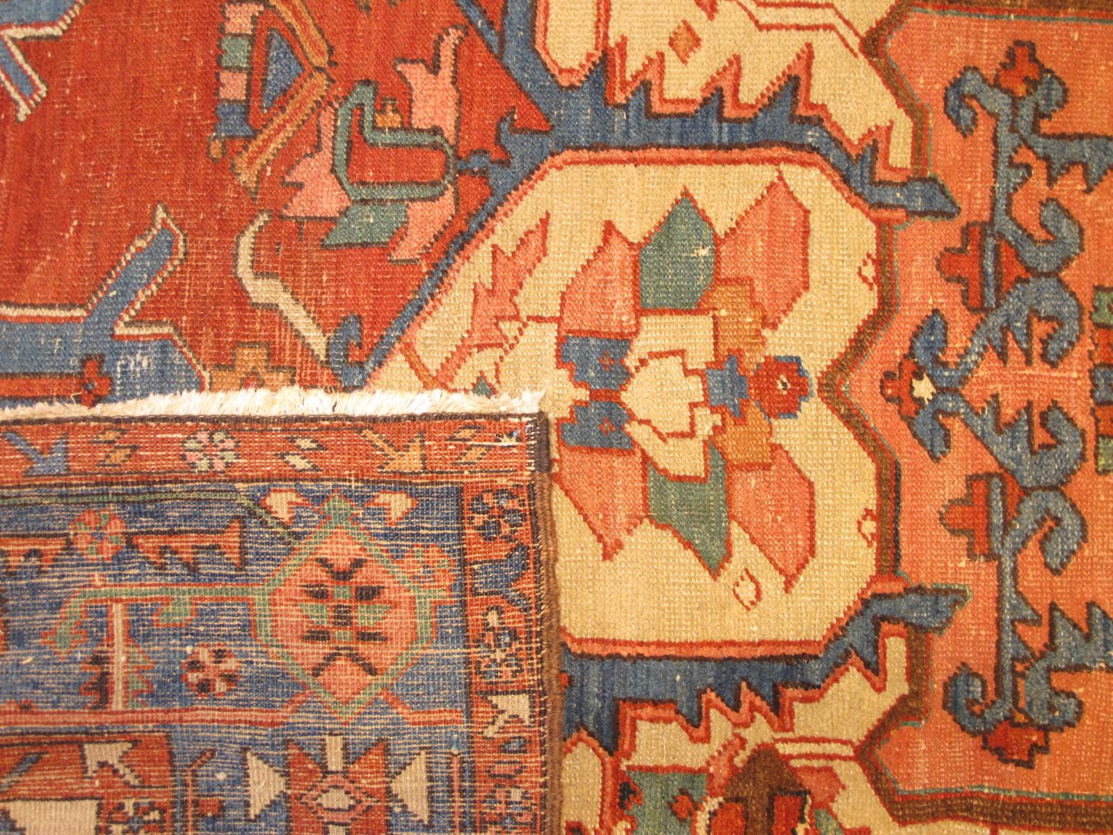 23196 antique persian serapi rug 9,10 x 12,3 (5)