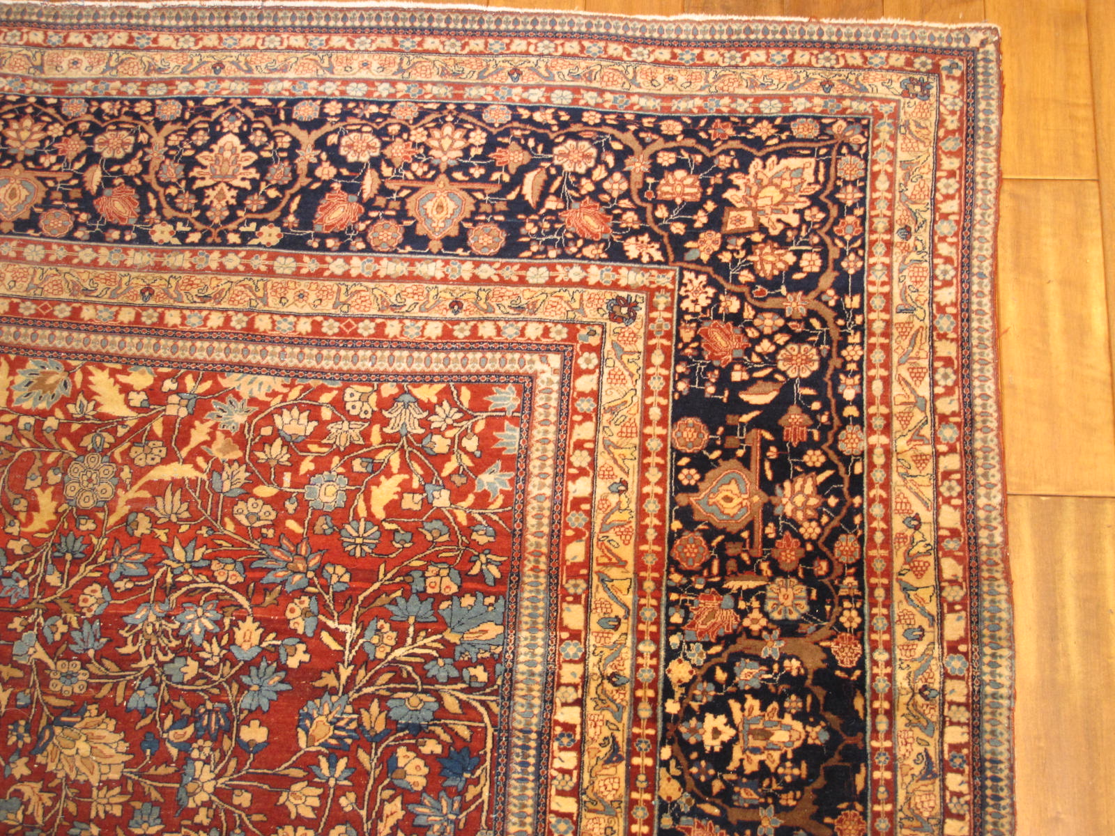 23204 antique persian kashan mohtasham rug 8,3 x 11,1 (2)