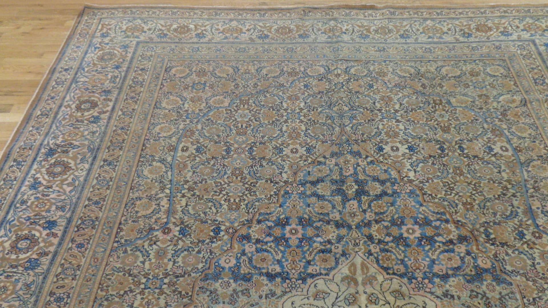 24844 antique persian haj jalili tabriz rug 9,6x13,1-1