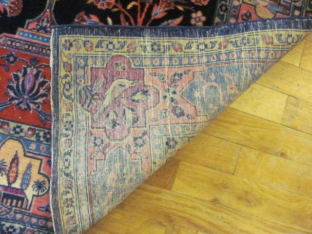 24852 antique persian kashan rug 3,4 x  5-3