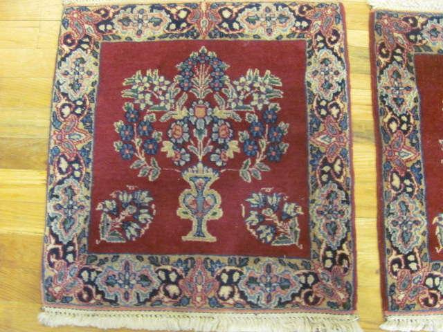 24906 persian kirman mats (pair) silk 1,8 x 1,10-1