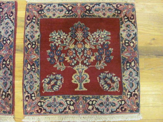 24906 persian kirman mats (pair) silk 1,8 x 1,10-2