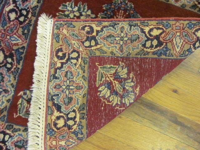 24906 persian kirman mats (pair) silk 1,8 x 1,10-3