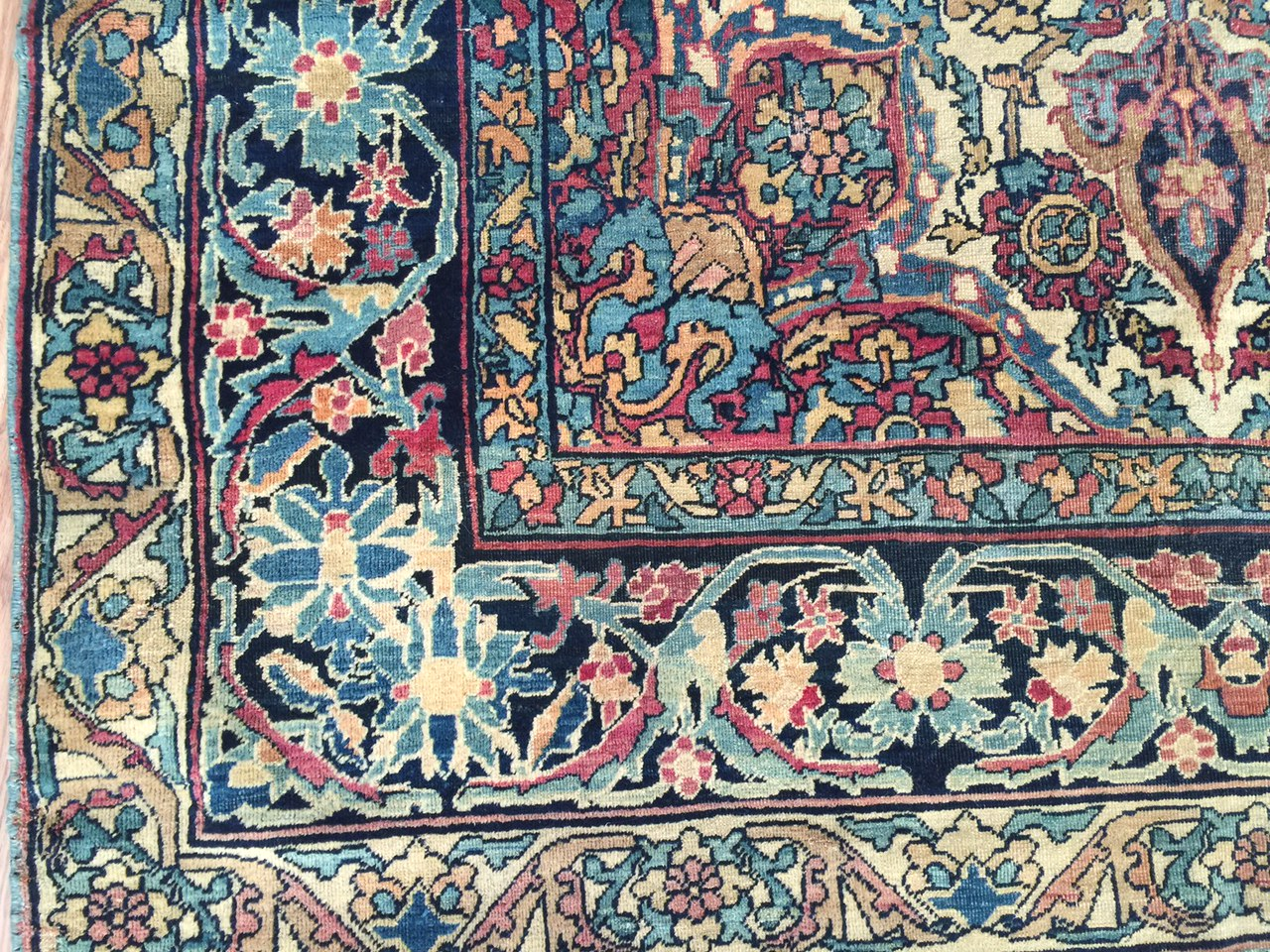 24252 Antique Kirman Lavar rug 3,9 x 6,4-2