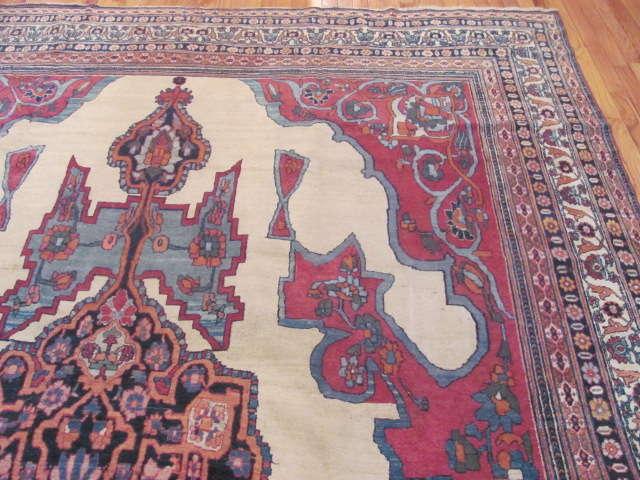 24938 Antique Persian Kirman Lavar carpet 8,8 x 13,2 -1