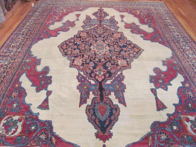 24938 Antique Persian Kirman Lavar carpet 8,8 x 13,2