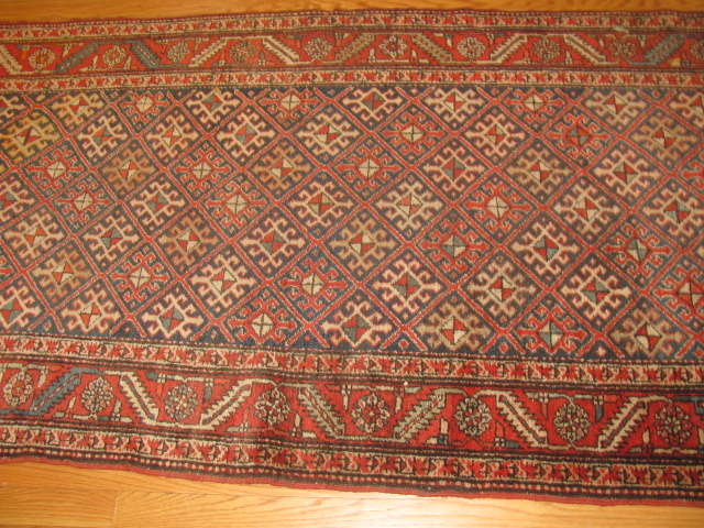 24955 Persian Heriz hall runner 3,4 x 13 -2