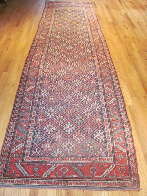 24955 Persian Heriz hall runner 3,4 x 13