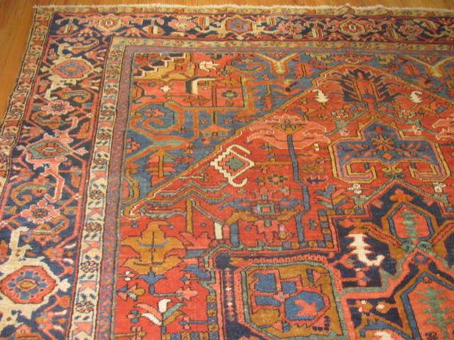 24965 Persian Heriz carpet  9,4 x 11,8 -1