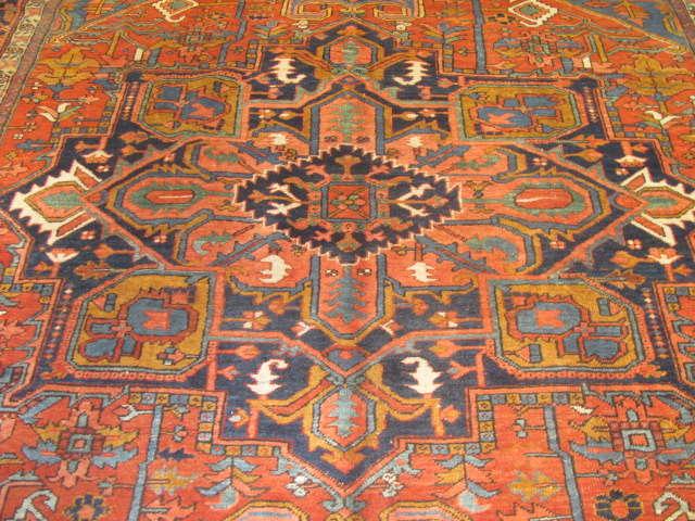 24965 Persian Heriz carpet  9,4 x 11,8 -2