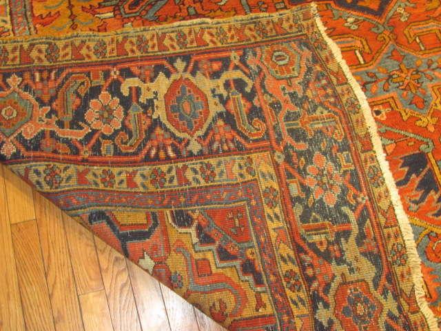 24965 Persian Heriz carpet  9,4 x 11,8 -3
