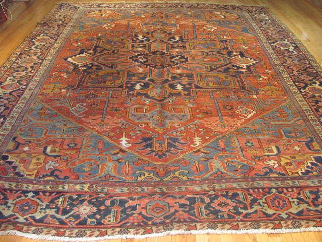 24965 Persian Heriz carpet  9,4 x 11,8