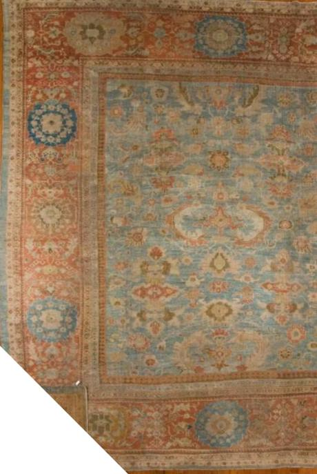 24980 Antique Persian Sultanabad  11,9 x 13-