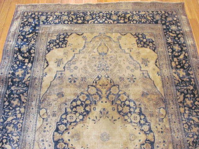 24985 Antique Persian Kashan Mohteshem rug  4,4 x 6,7 -1