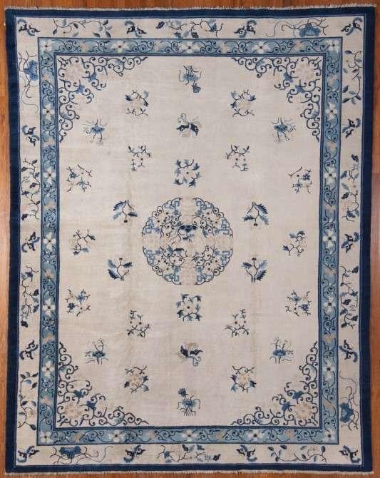 24990 Antique Chinese Peking carpet 9,1 x 11,7