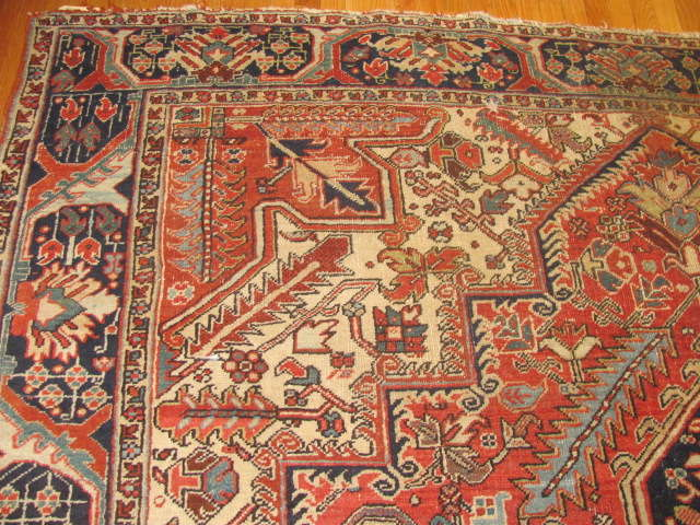 25035 Persian Heriz carpet  8,10 x 12,3-1