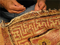 Antique Rug Company offer Oriental rug pre-cleaning security in the San Marino area.