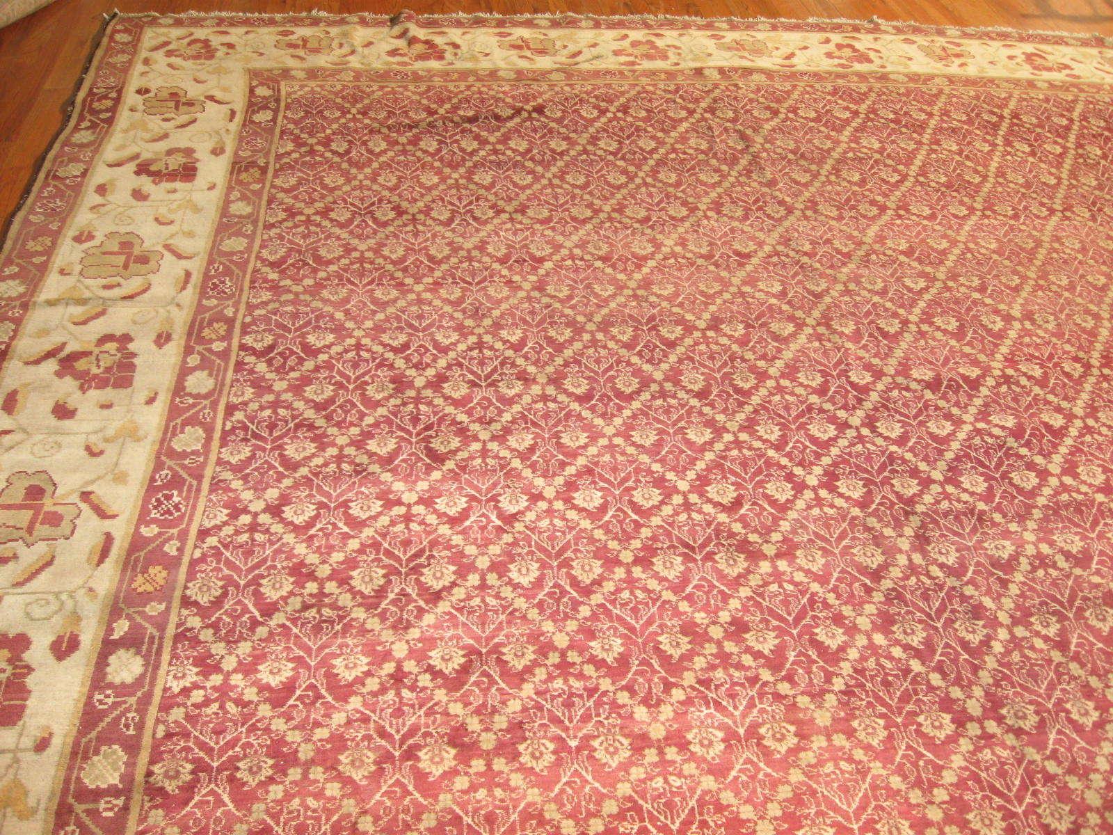 24261 antique India Agra carpet 17,5 x 27,2 (1)