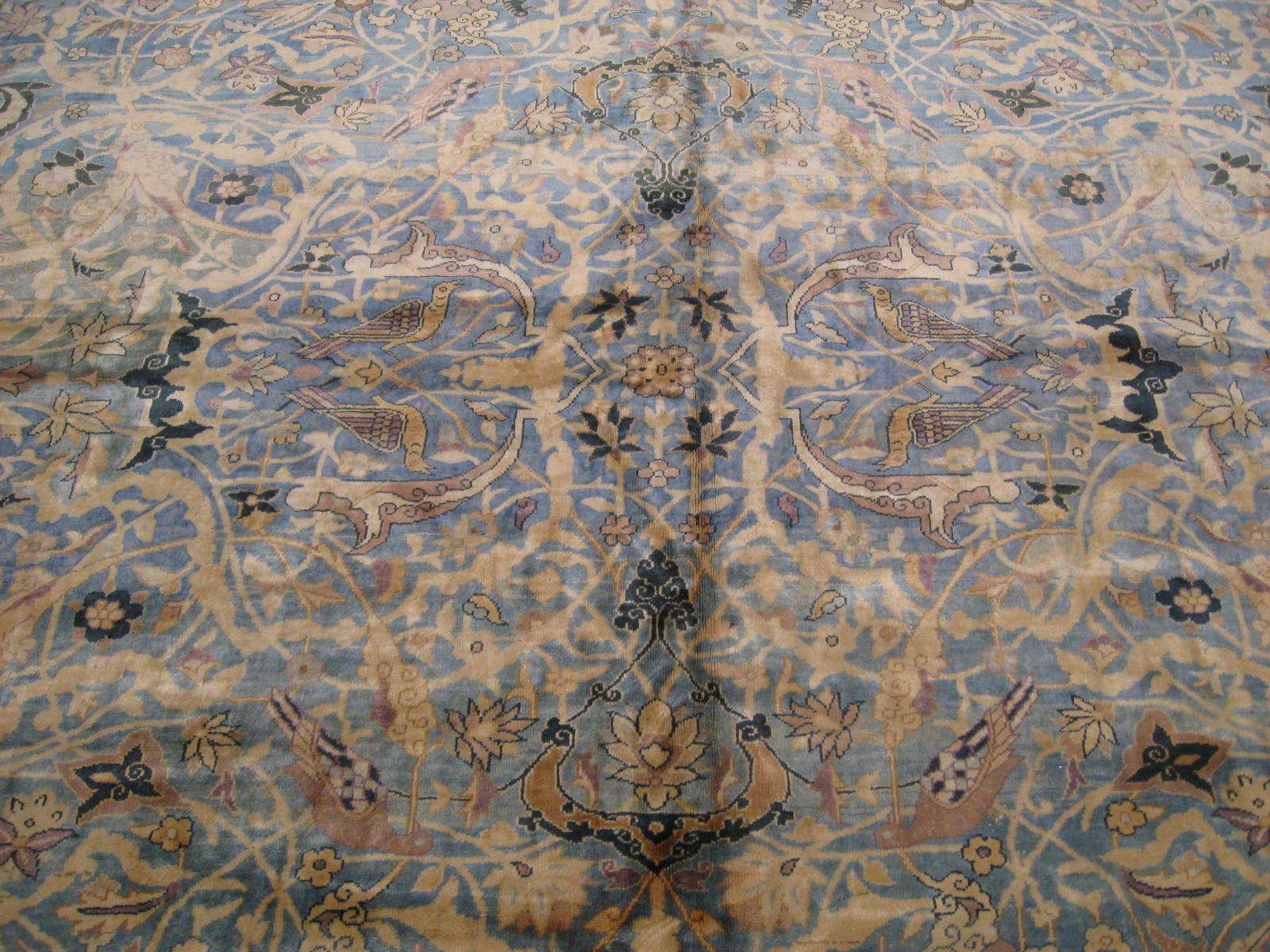 24263 antique  Indo Tabriz carpet 22,6 x 23 (3)