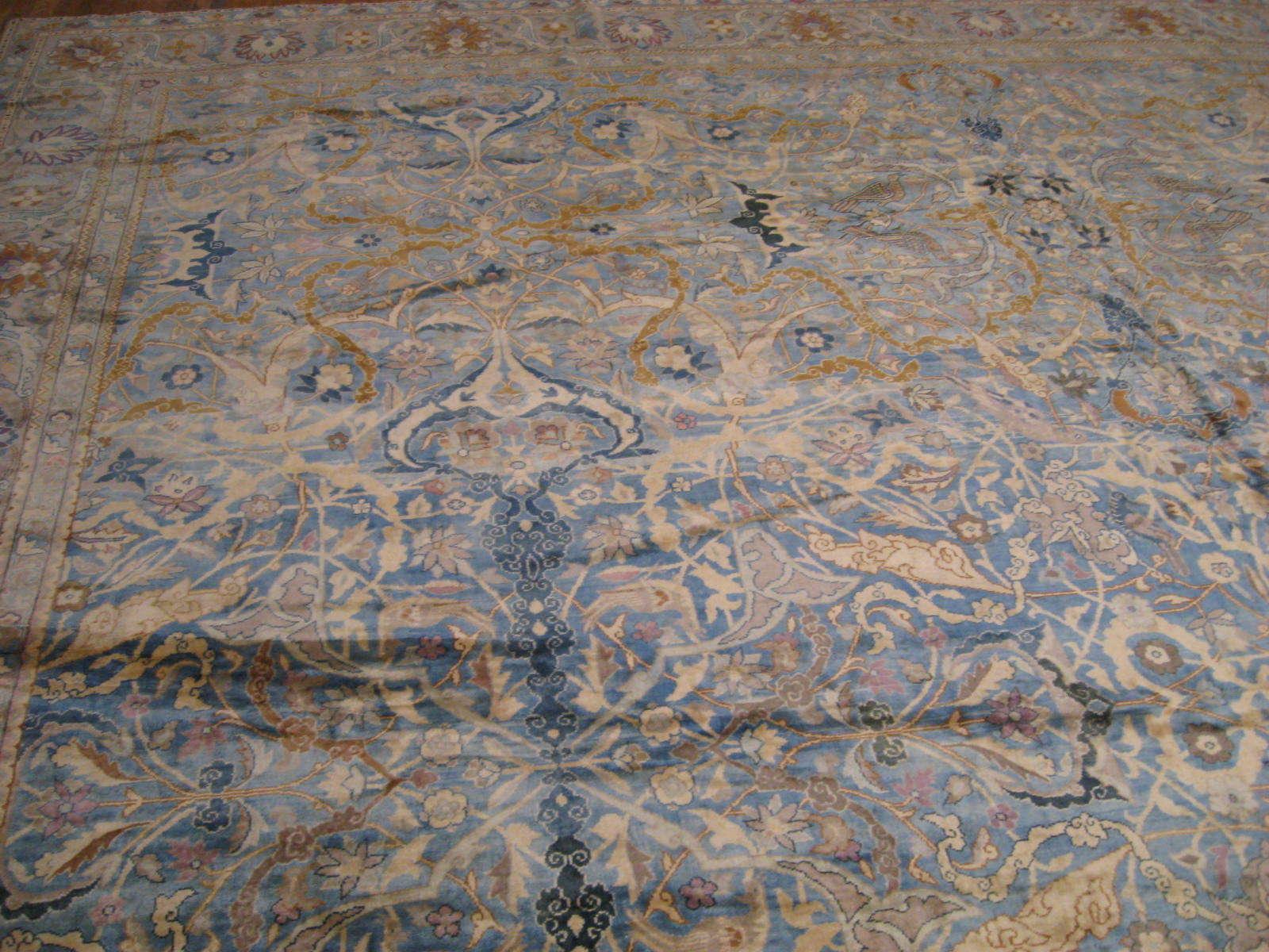 24263 antique  Indo Tabriz carpet 22,6 x 23 (4)