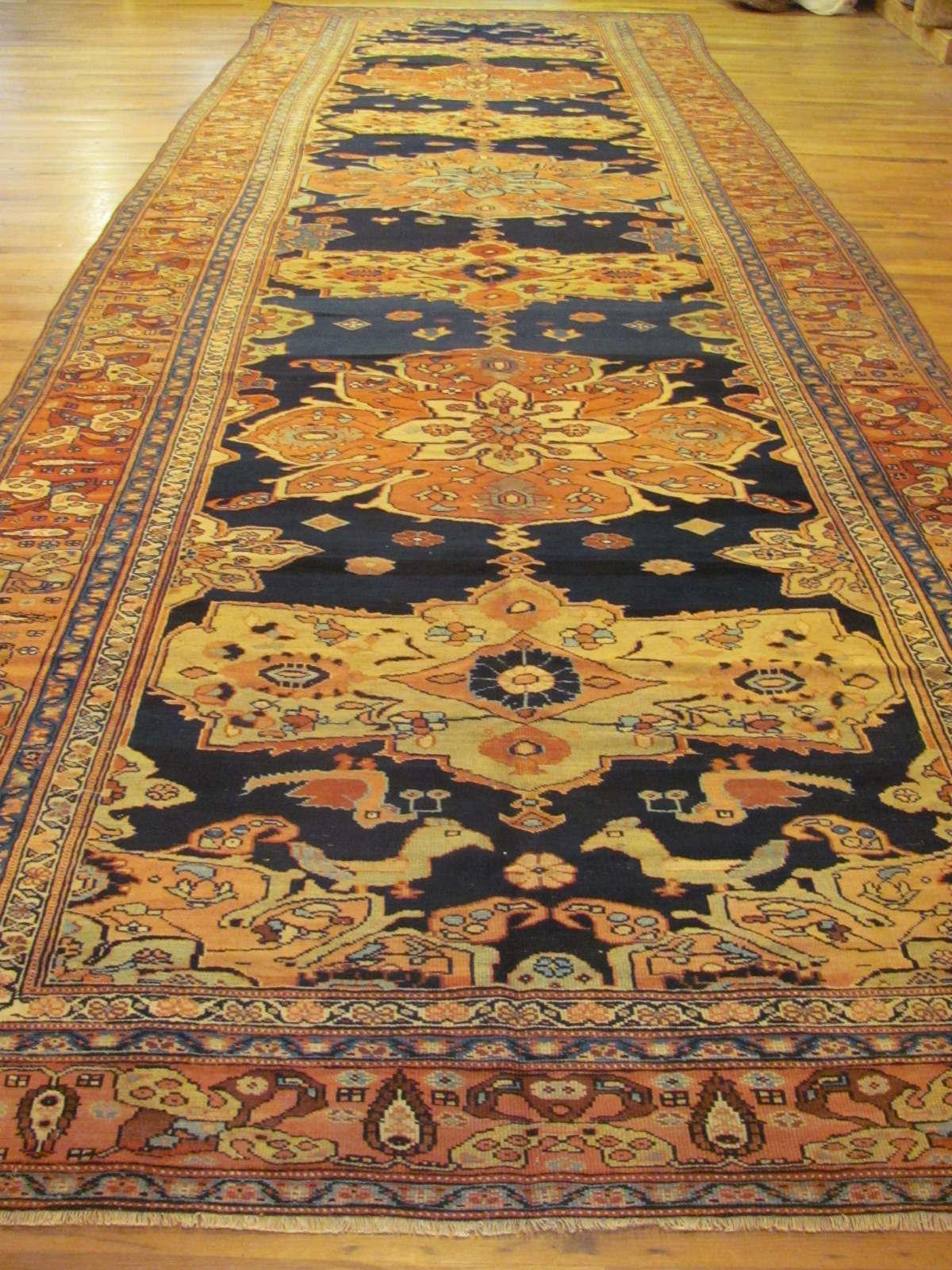 24271 Antique Caucasian Karabagh corridor rug 7,1 x 21,10