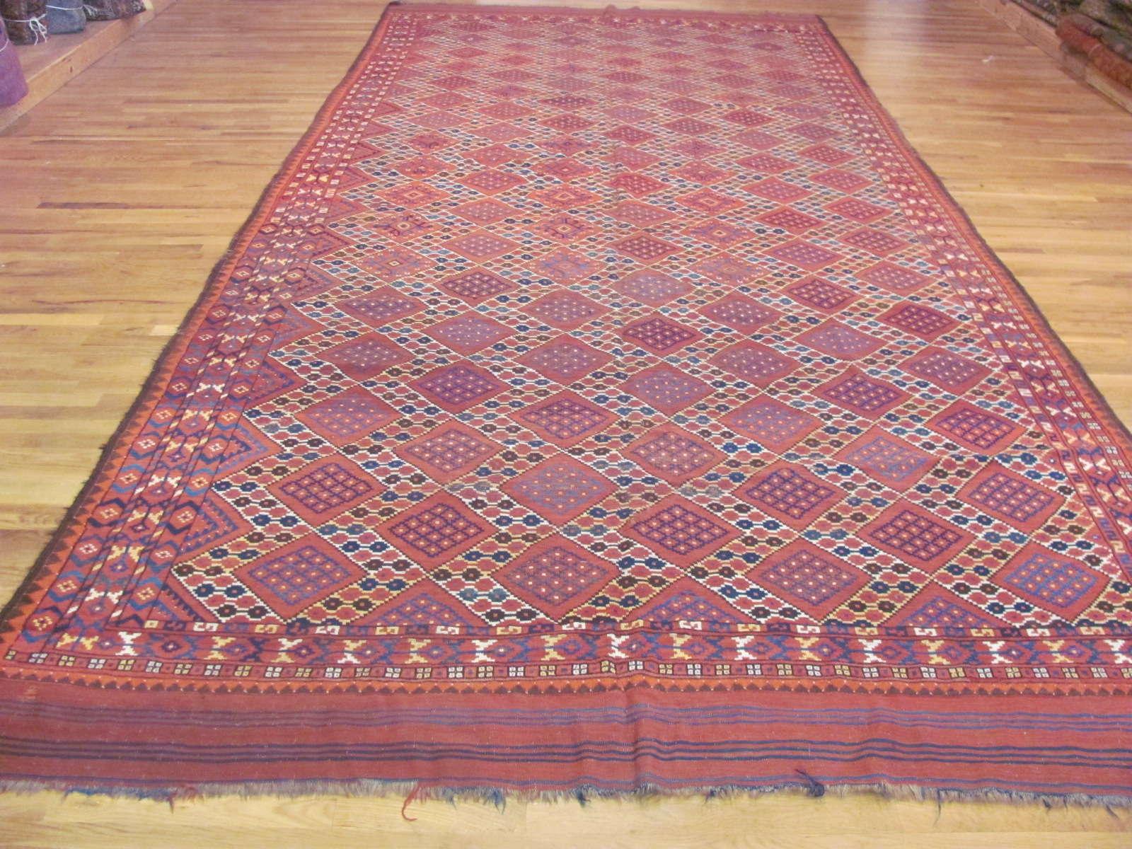 Antique Beshir Carpet   Circa 1900