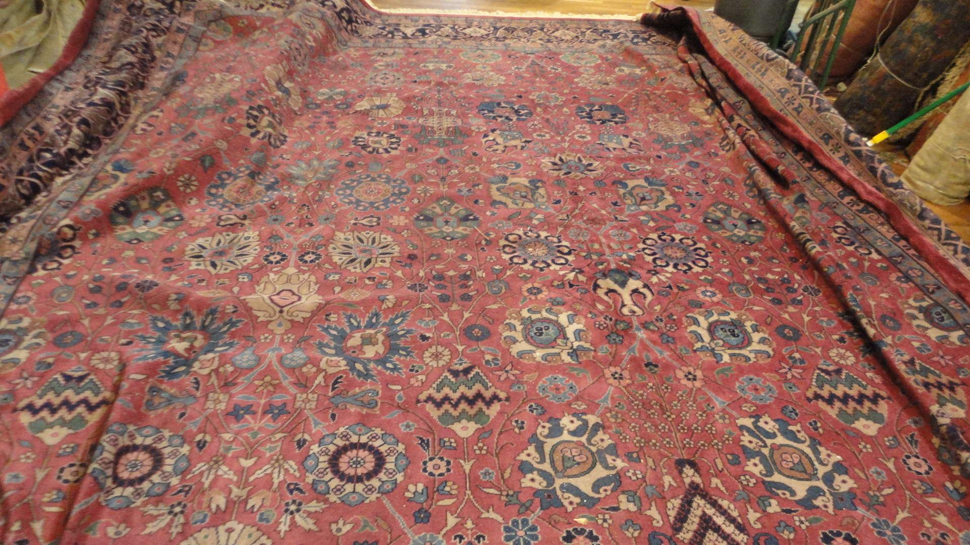 Antique Indo Tabriz Rug | Handmade | Circa 1910