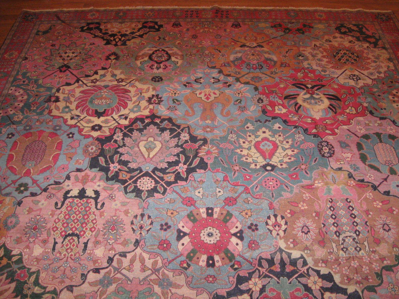 Antique Indo Tabriz Rug   Handmade   Circa 1900