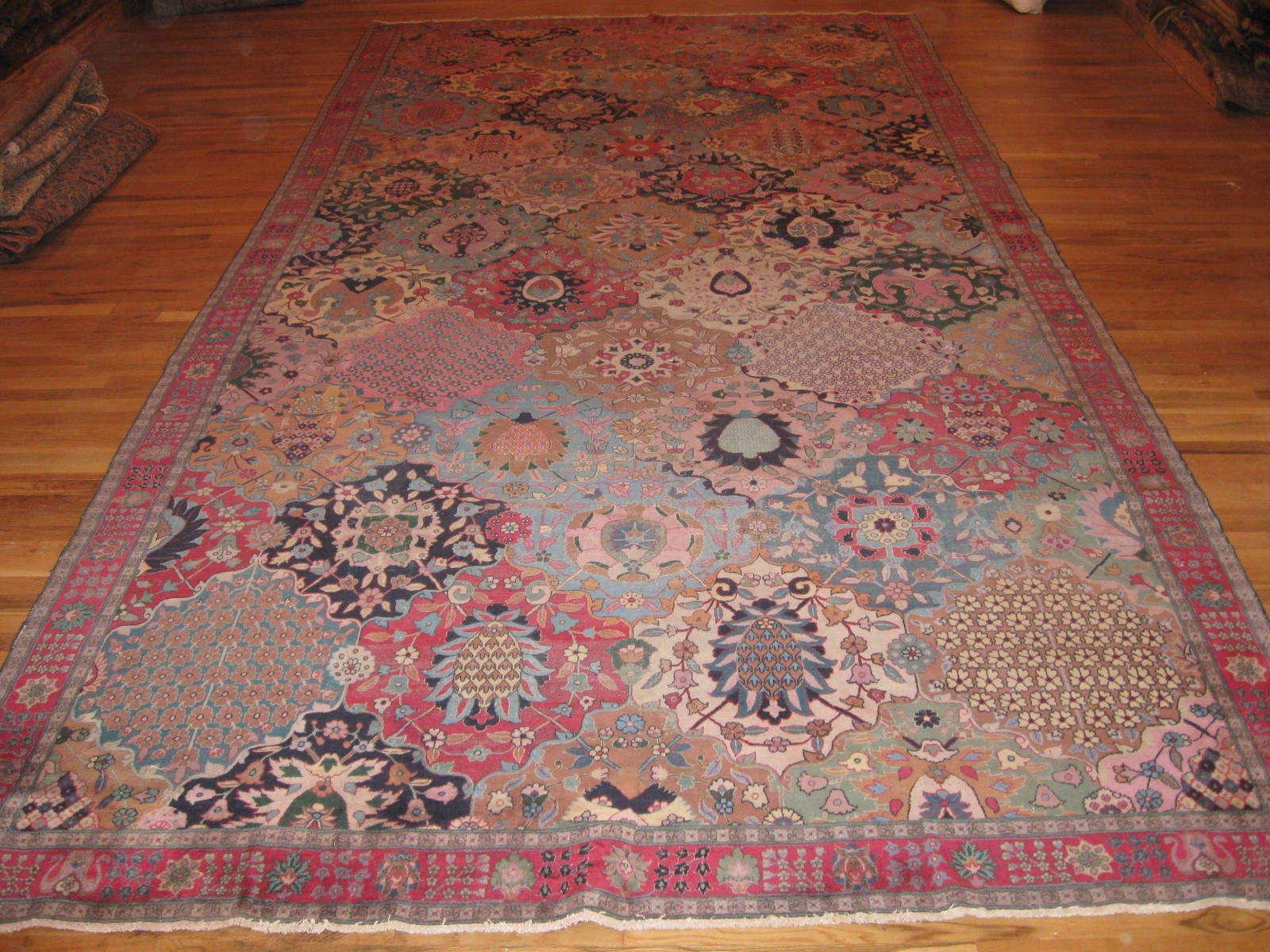 Antique Indo Tabriz Rug   Handmade   Circa 1910