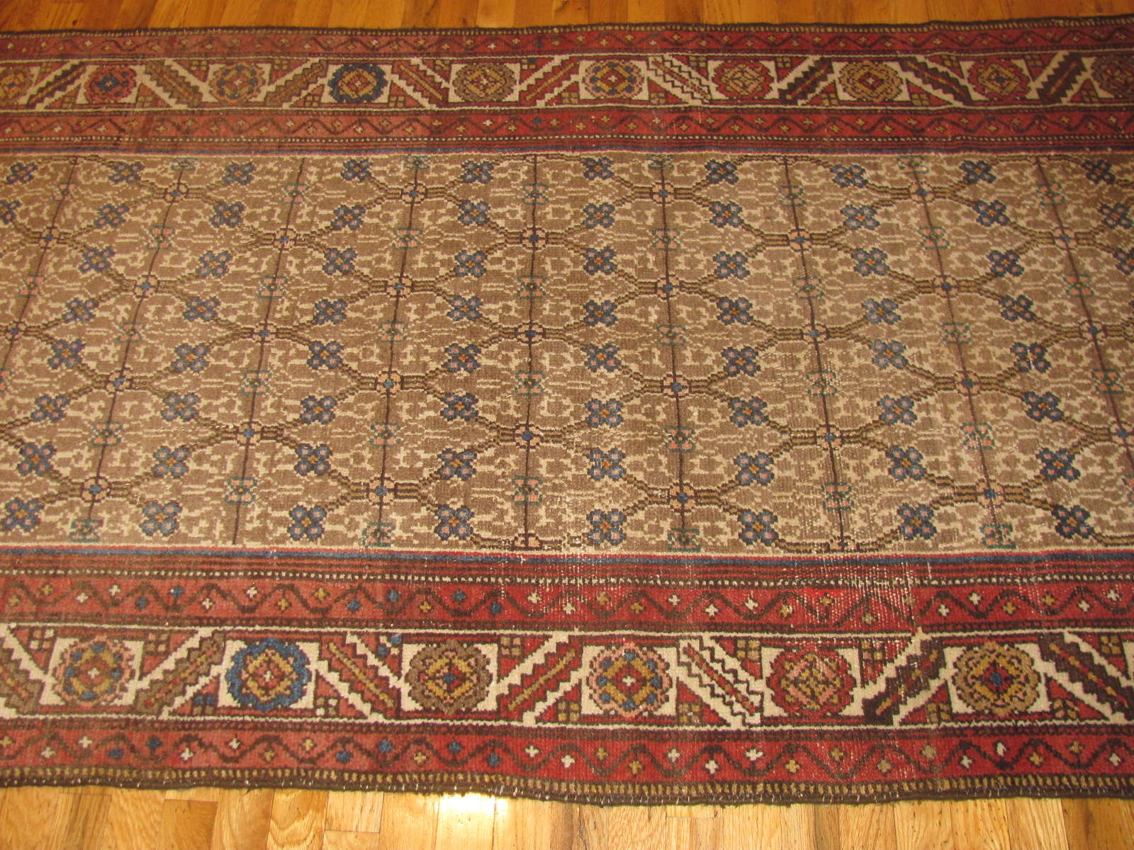 24332 antique Persian Hamadan camel hair 3,11 x 16,7 (3)