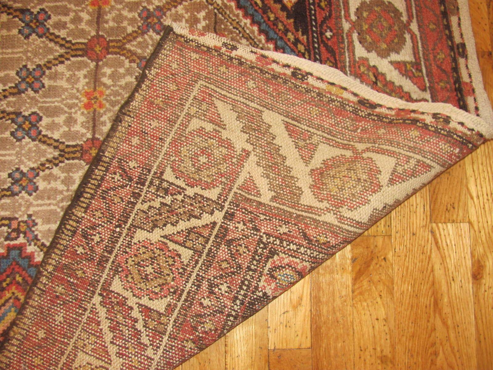 24332 antique Persian Hamadan camel hair 3,11 x 16,7 (4)
