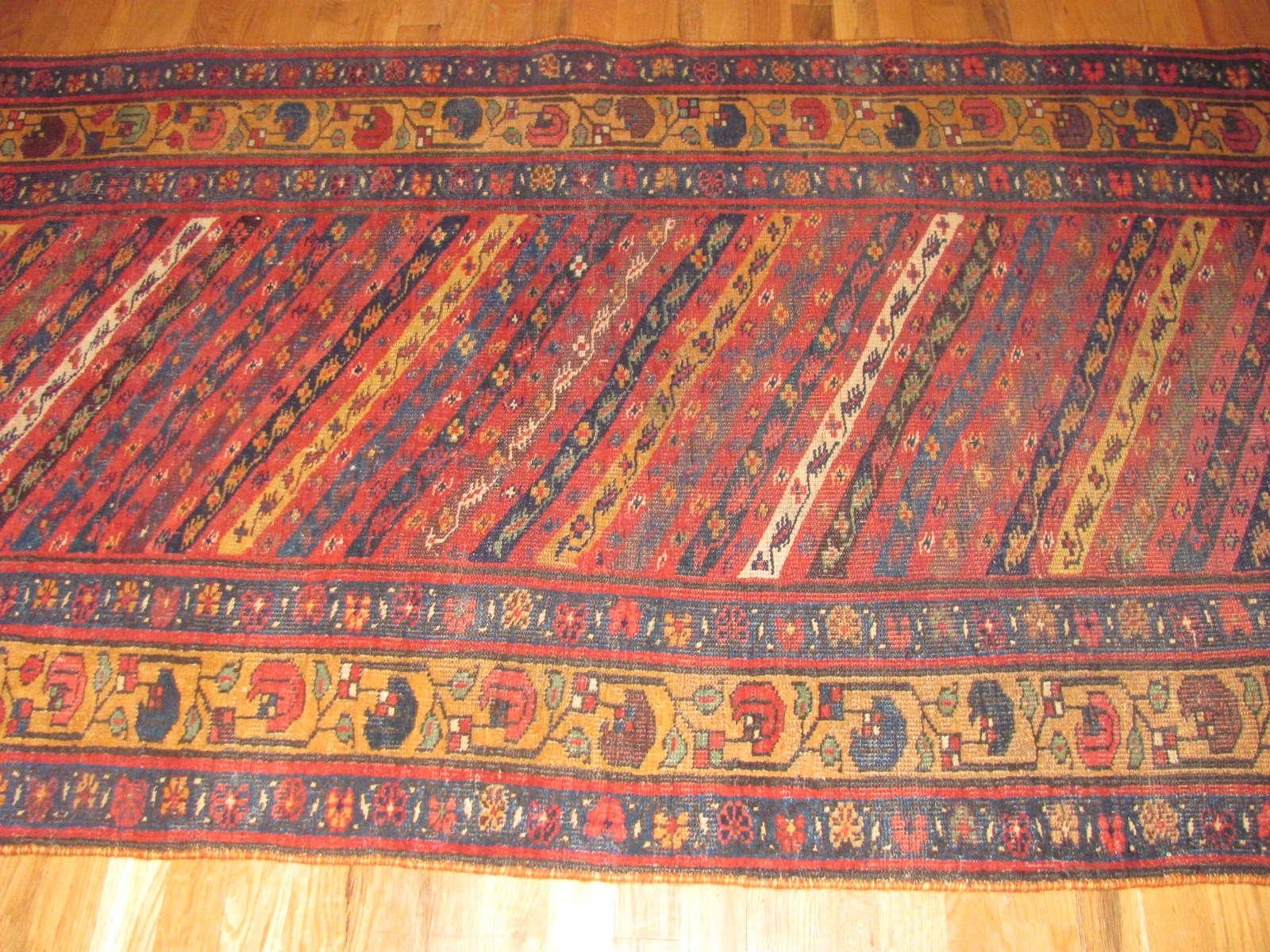 24339 antique Persian Bidjar 3,6 x 14,6 -2