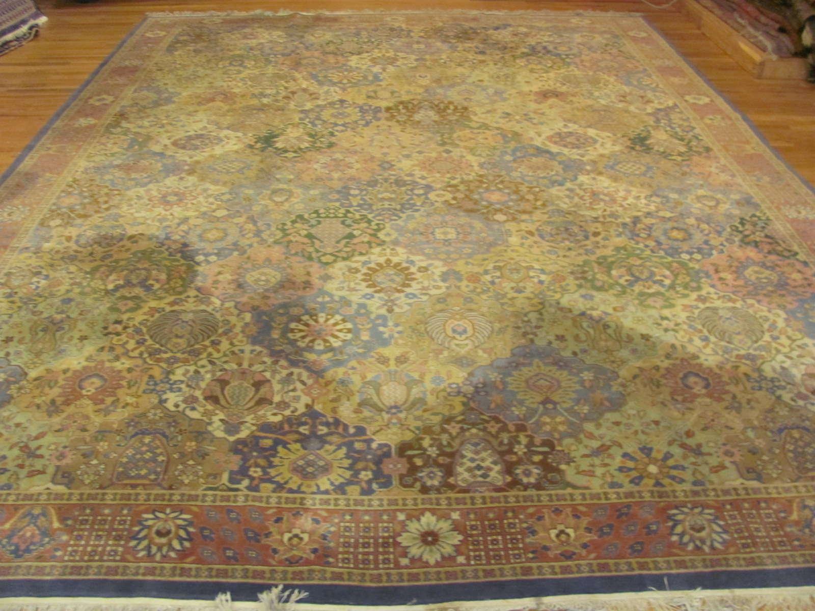 Indo Tabriz Carpet   Circa 1920s