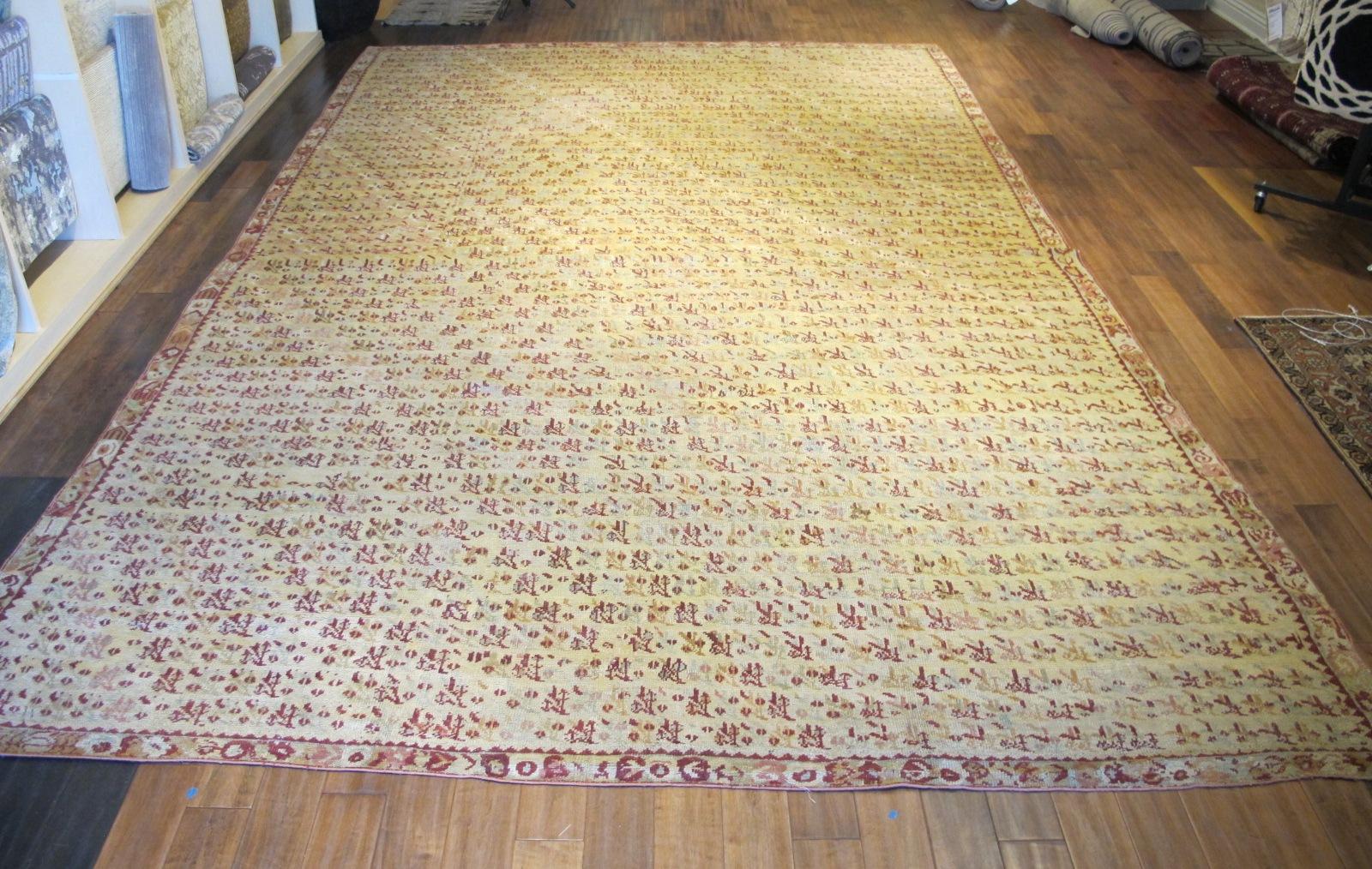13077 Antique Anatolian Ghiordes rug 10,6 x 16,4 (2)
