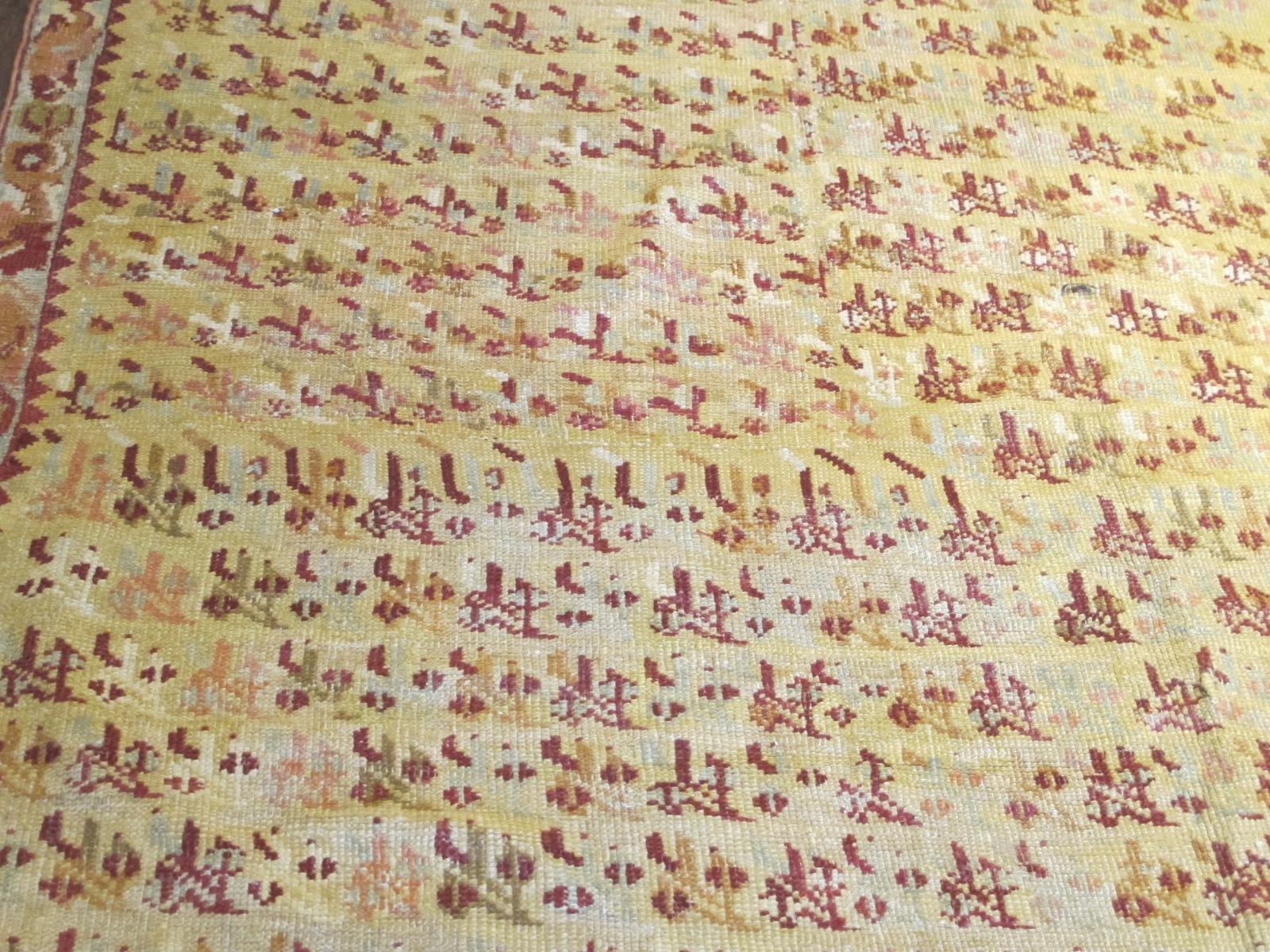 13077 Antique Anatolian Ghiordes rug 10,6 x 16,4 (5)