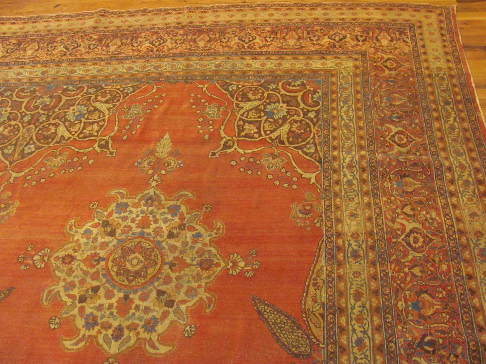 24345 antique Persian Tabriz carpet 10,9 x 14,4 -1