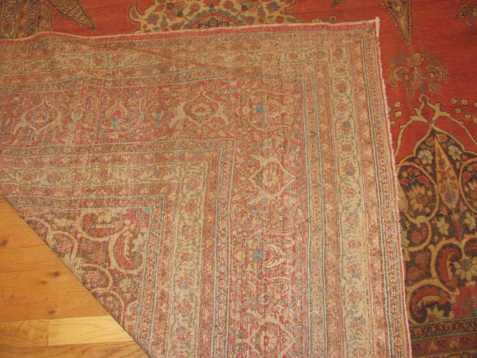 24345 antique Persian Tabriz carpet 10,9 x 14,4 -3