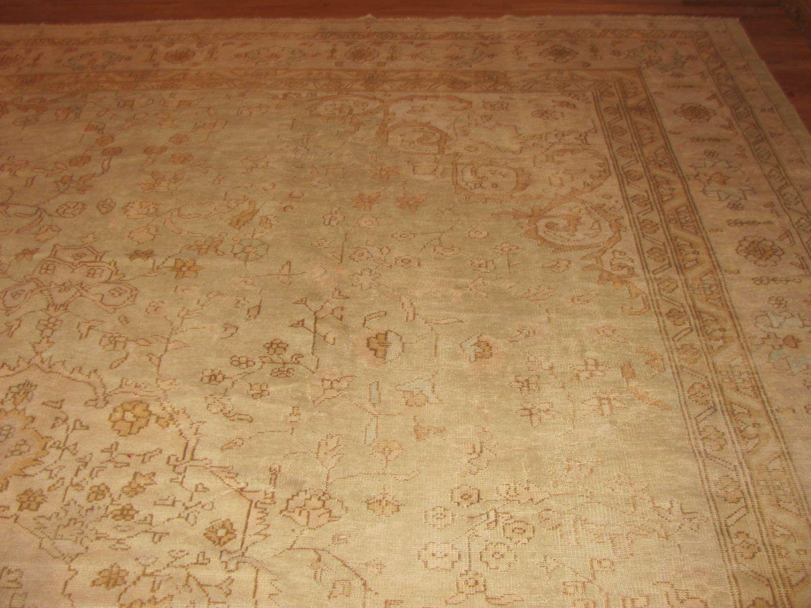24349 antique Anatolian Oushak 11,10 x 14,7 -1