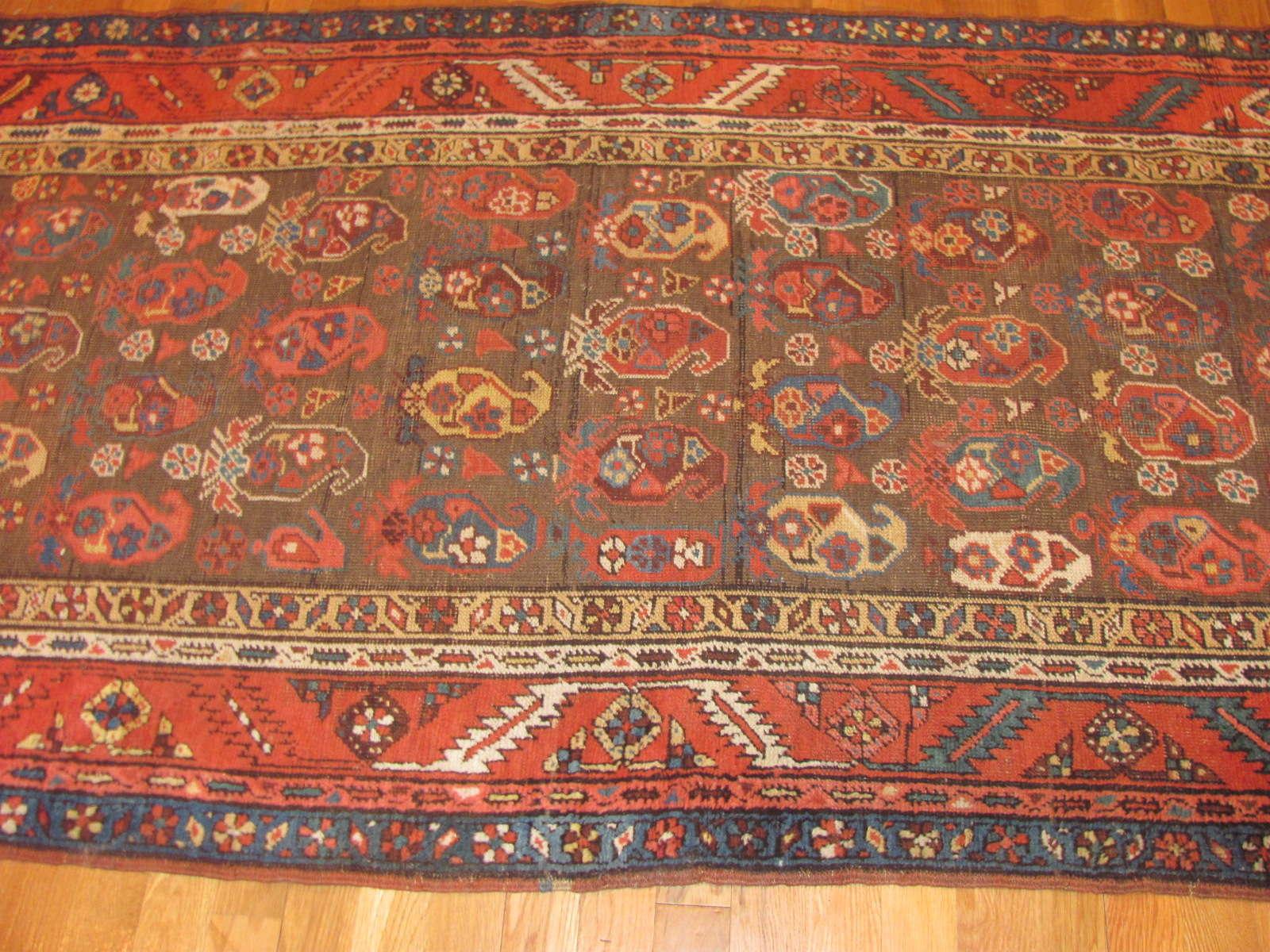 24369 antique Persian Bakshaish 3,2 x 13,8 -2