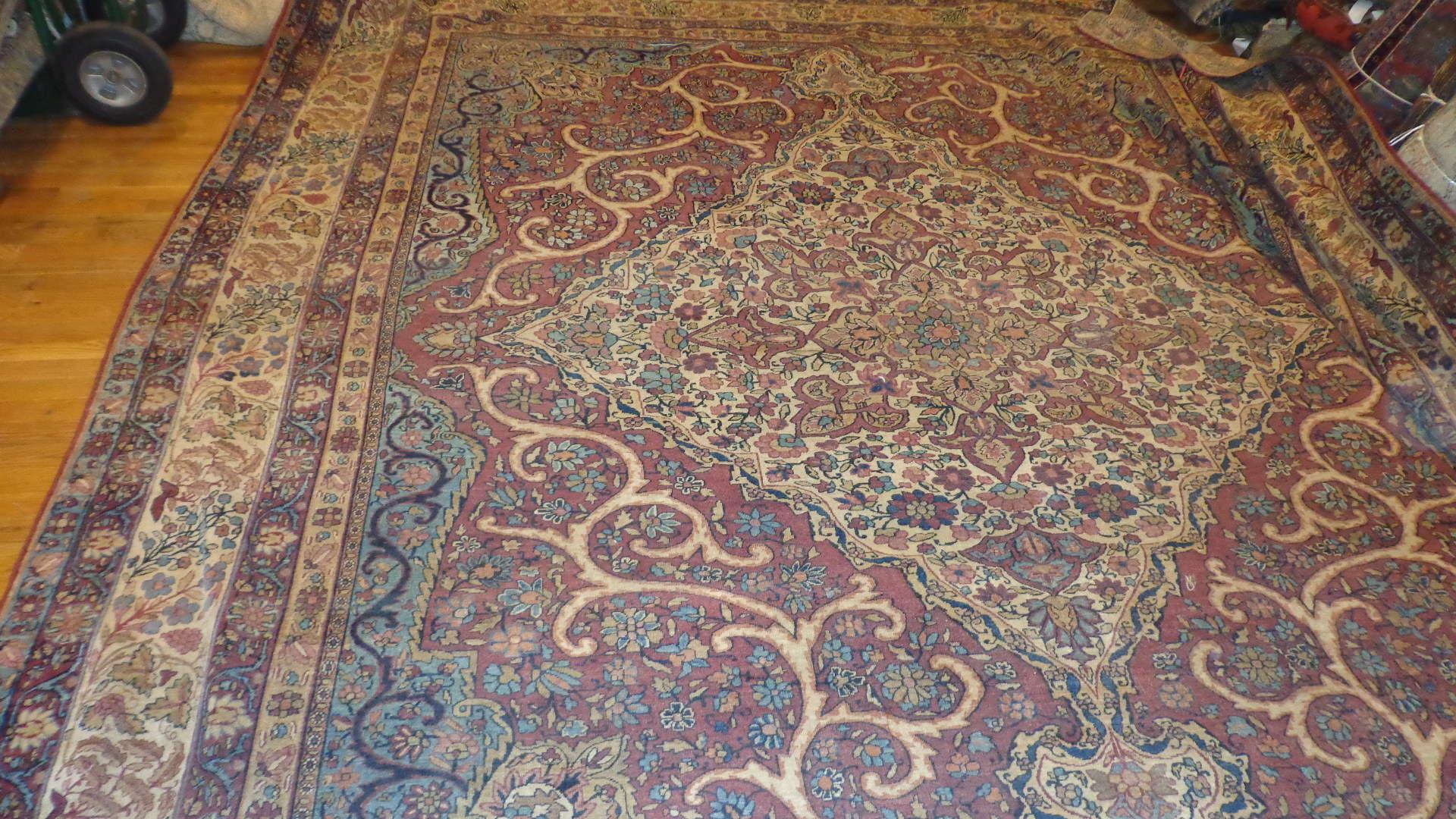 Antique Kerman Lavar Carpet   Persia   Circa 1910