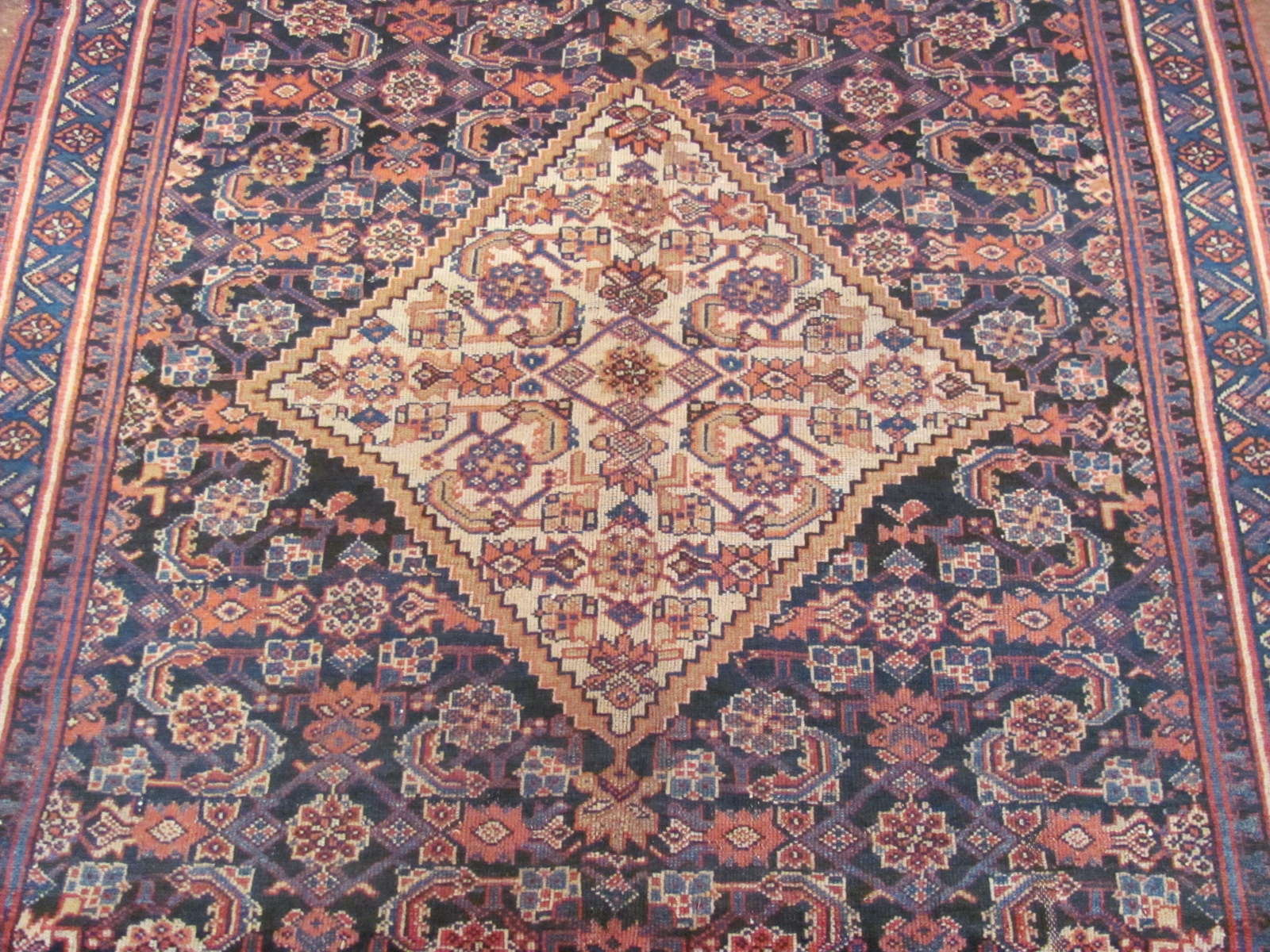 24437 antique Persian Hamadan rug 5,4x10,4 -2