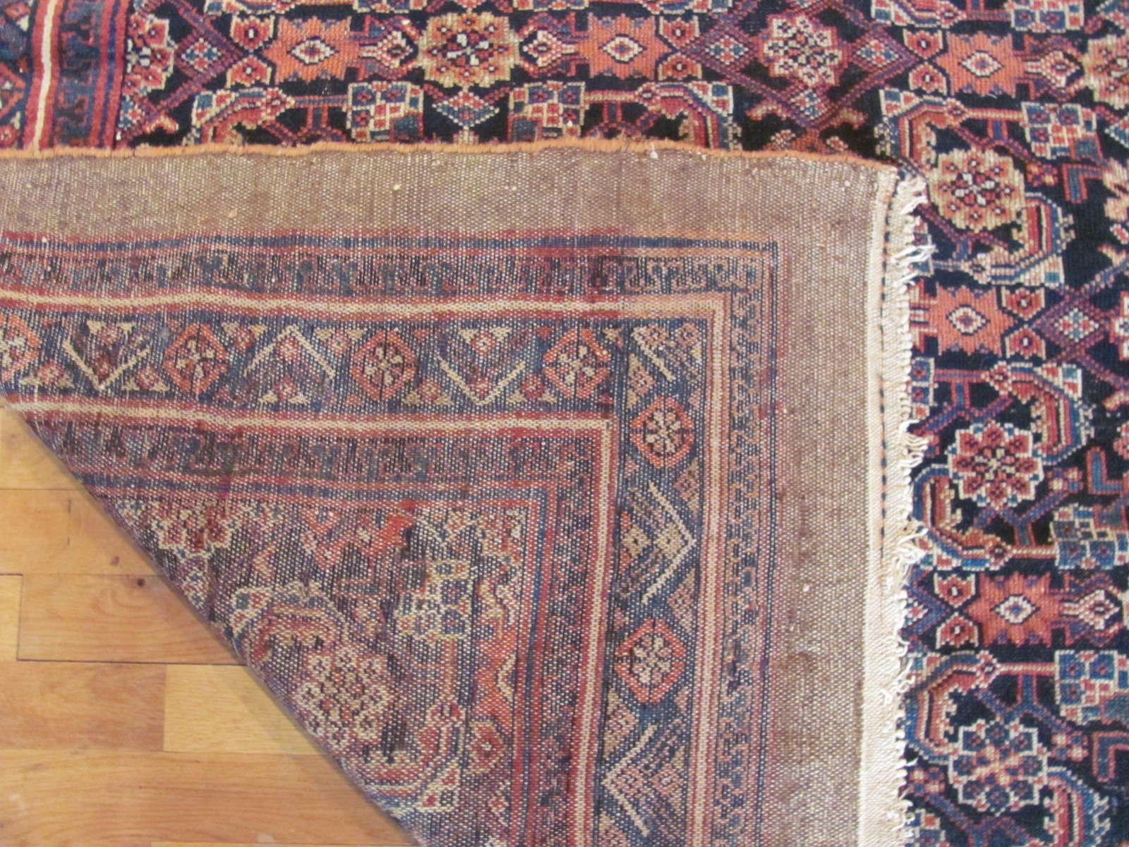 24437 antique Persian Hamadan rug 5,4x10,4 -3