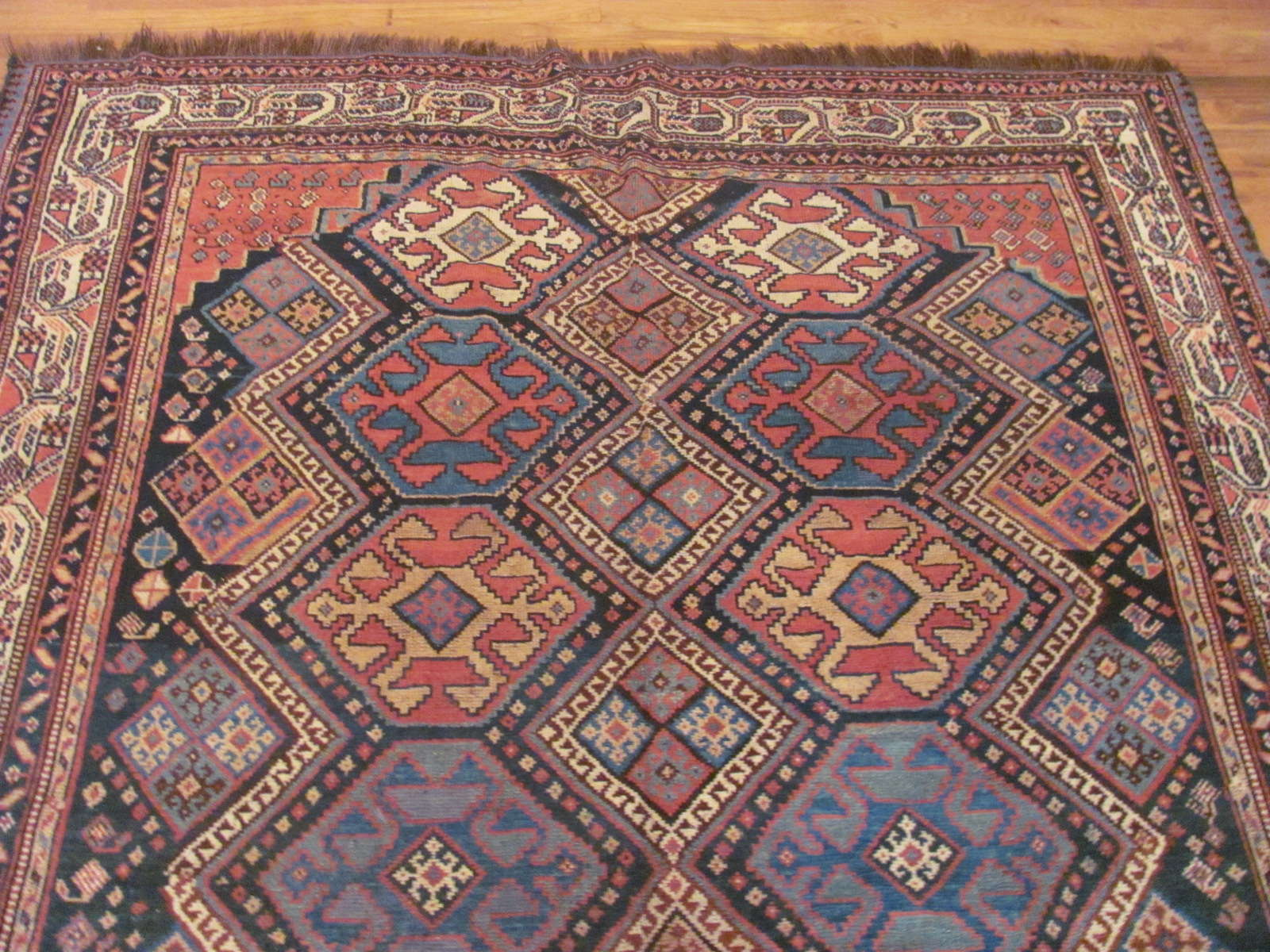 24445 antique persian luri rug 5,11x10,1 -1
