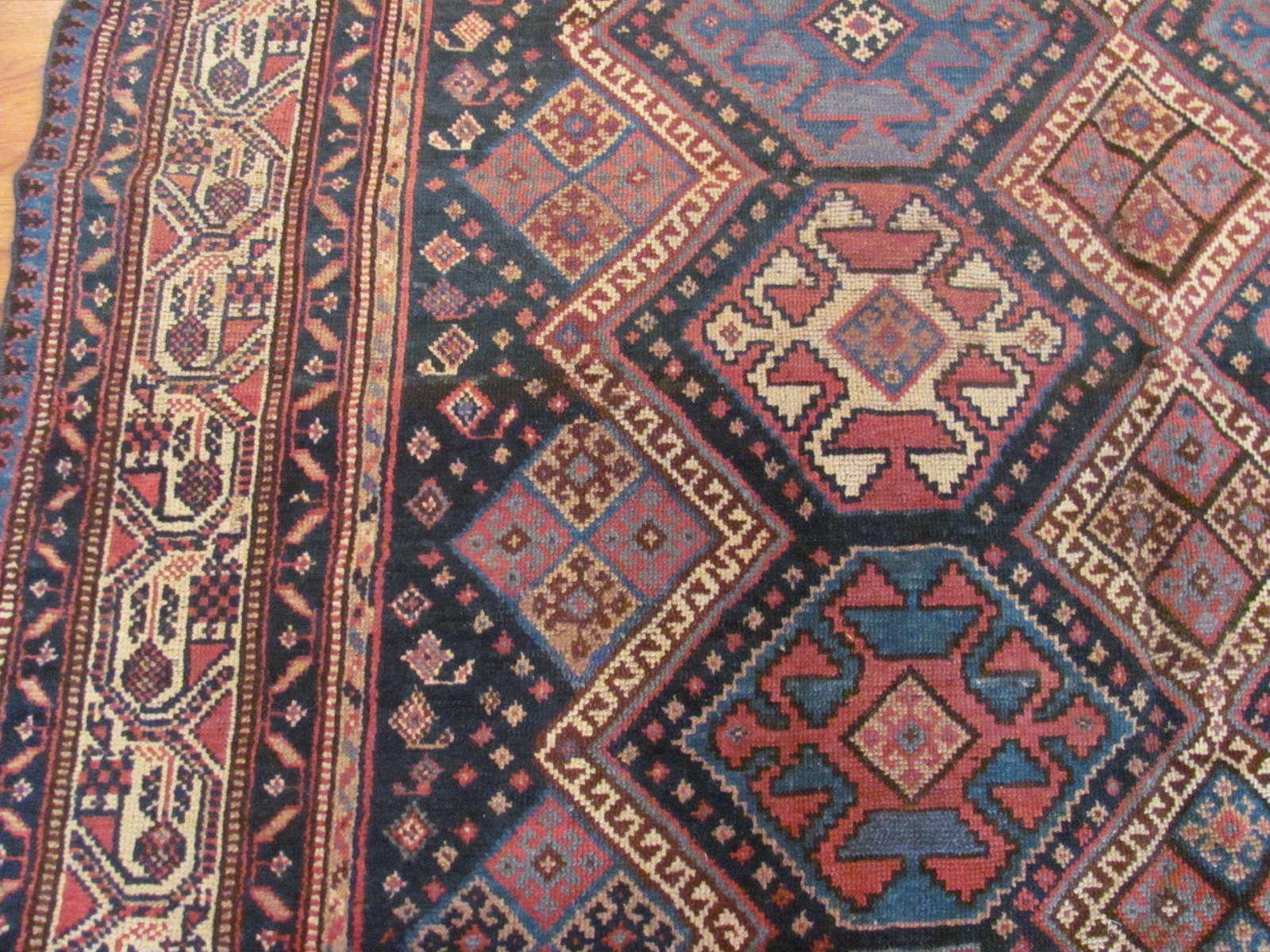 24445 antique persian luri rug 5,11x10,1 -2
