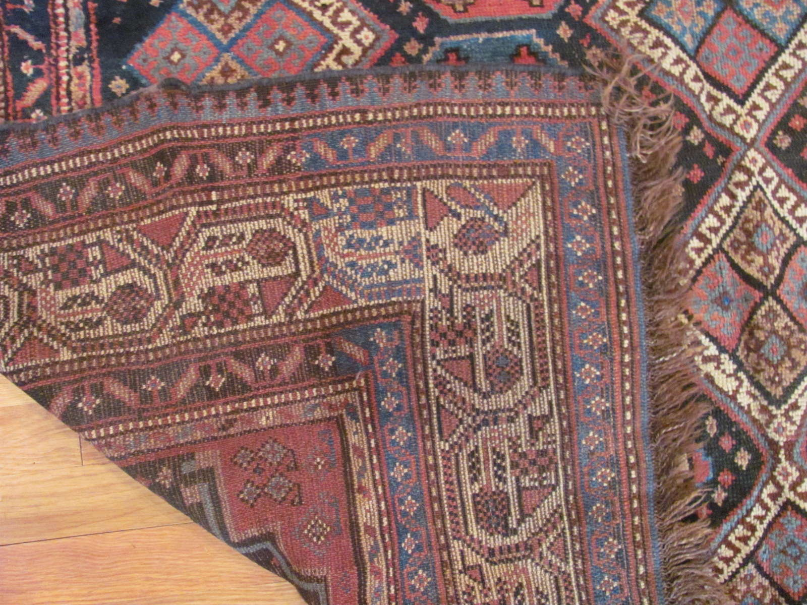 24445 antique persian luri rug 5,11x10,1 -3