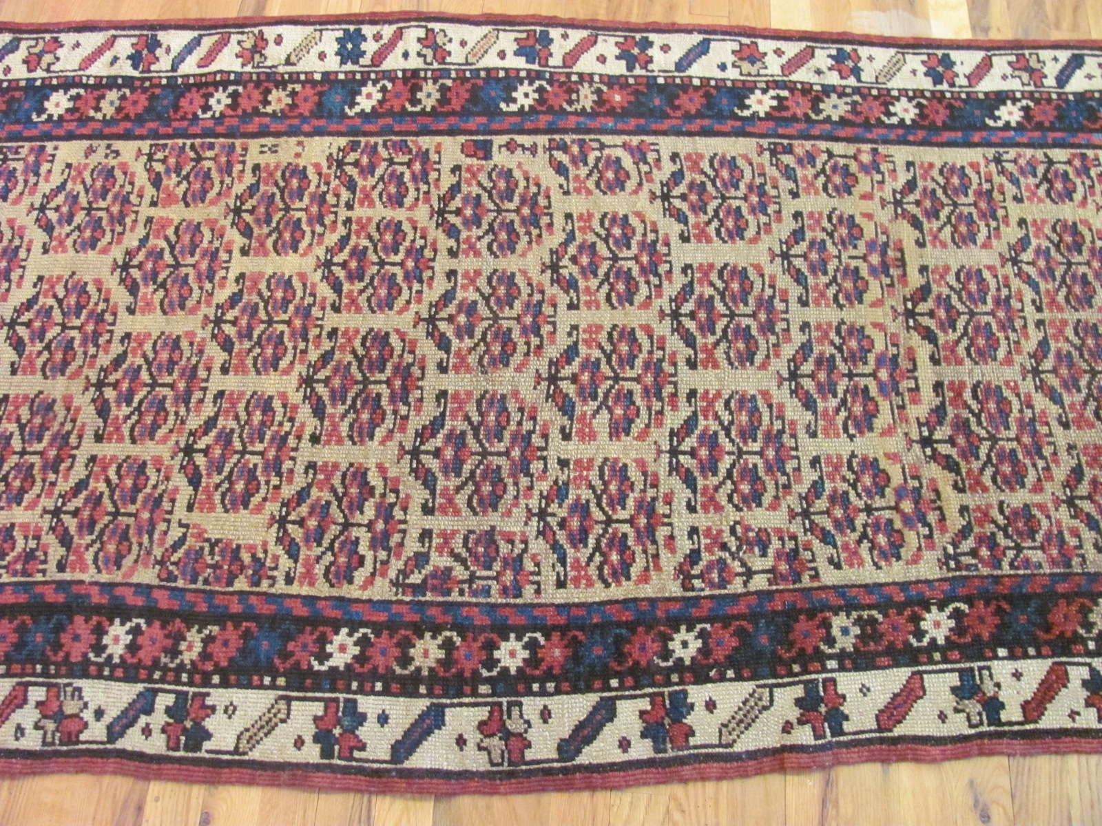 24448 antique Persian Kurd runner rug 3,4x10 -2