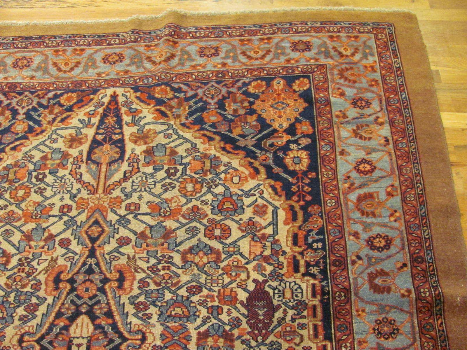 24464 antique Persian Malayer carpet 6,7x11 -1